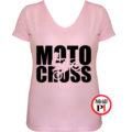 motor póló motocross női pink