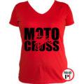 motor póló motocross női piros