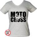 motor póló motocross női szürke