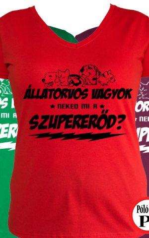állatorvos póló szupererő női