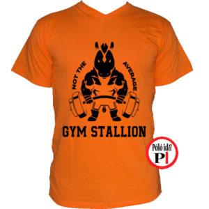 edző póló nem az átlagos narancs
