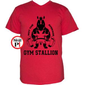 edző póló nem az átlagos piros