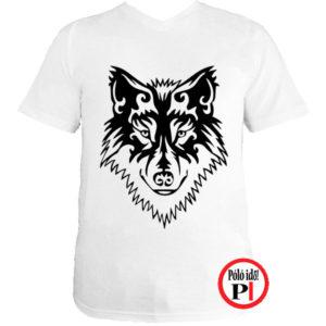 farkas póló alfa fehér