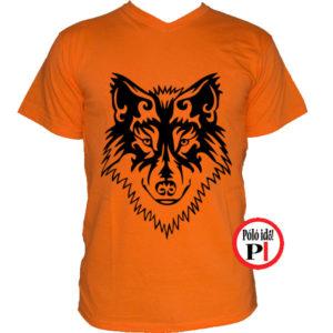 farkas póló alfa narancs