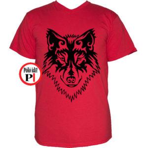 farkas póló alfa piros
