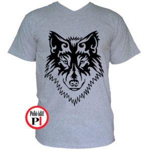 farkas póló alfa szürke