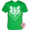 farkas póló alfa zöld