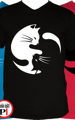 macska póló yinyang