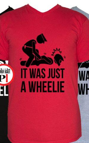 motor póló wheelie