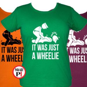 motor póló wheelie női
