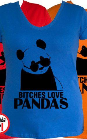 panda póló bitches női