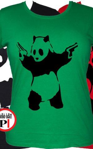 panda póló pisztoly női