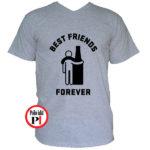 páros póló alkoholista barátok szürke