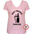 páros póló alkoholista barátok női pink