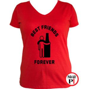 páros póló alkoholista barátok női piros