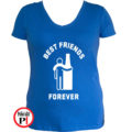 páros póló alkoholista barátok női kék