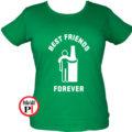 páros póló alkoholista barátok női zöld