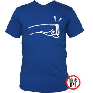 páros póló balos kék