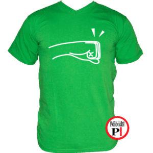 páros póló balos zöld
