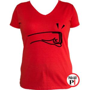 páros póló balos női piros