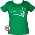 páros póló balos női zöld