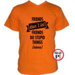 páros póló egyedül narancs
