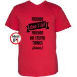 páros póló egyedül piros