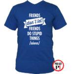 páros póló egyedül kék
