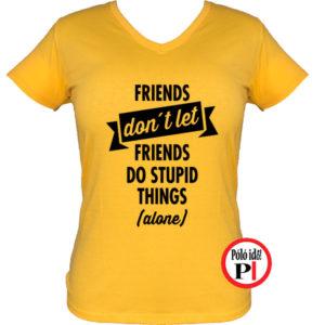 páros póló egyedül női citrom