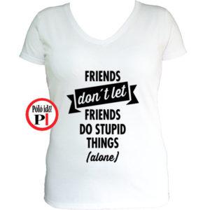 páros póló egyedül női fehér