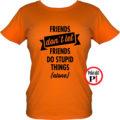 páros póló egyedül női narancs