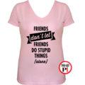páros póló egyedül női pink