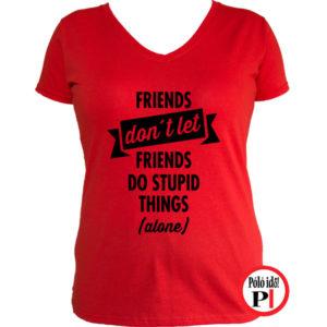 páros póló egyedül női piros