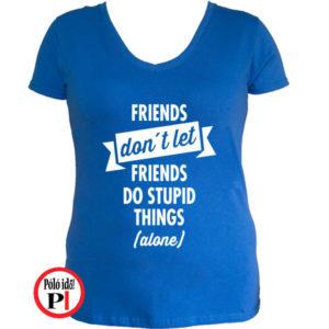 páros póló egyedül női kék