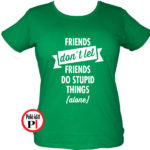 páros póló egyedül női zöld