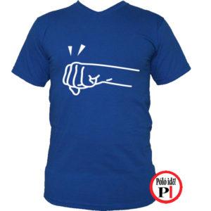 páros póló jobbos kék