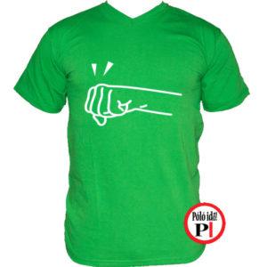 páros póló jobbos zöld