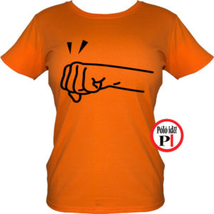 páros póló jobbos női narancs