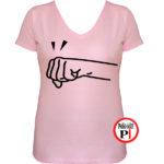 páros póló jobbos női pink