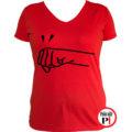 páros póló jobbos női piros