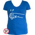 páros póló jobbos női kék