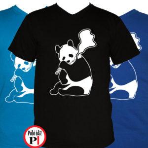 állat póló panda smoke