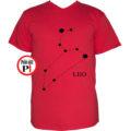 horoszkóp póló leo piros