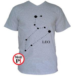 horoszkóp póló leo szürke