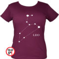 horoszkóp póló leo női burgundi