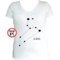 horoszkóp póló leo női fehér