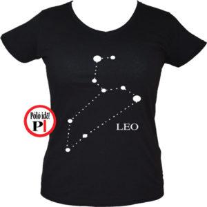 horoszkóp póló leo női fekete