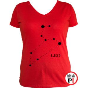 horoszkóp póló leo női piros