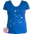 horoszkóp póló leo női kék