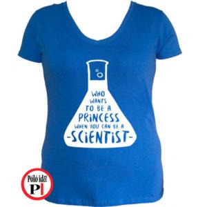 kémikus póló hercegnő kék